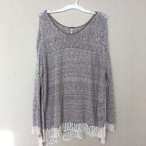 Free People Oversized Knit Sweater L
